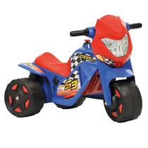 Mini Moto Elétrica 6v Azul E Vermelha - Bandeirante