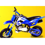 Mini Moto Cross Gasolina 2t 49cc O Mais Top Partida Suave