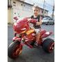 Moto Infantil Elétrica Tema Bombeiro Com Bateria E Carregado