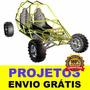 Projeto Kart Cross, Gaiola, Buggy, Kart + Frete Grátis
