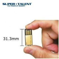 Mini Pen Drive Pico C Gold Super Talent 4gb Usb C/ Corrente