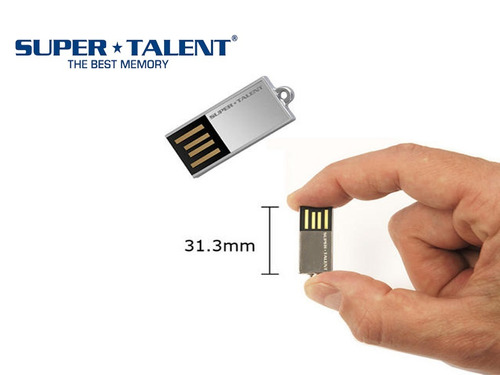 Mini Pen Drive Pico C Silve Super Talent 8gb Usb C/ Corrente