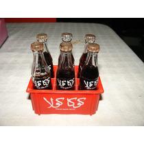 = Coca Cola = Garrafinhas De Vidro Tunisia Anos 80 Coleção