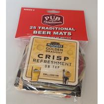 Novo Pacote 25 Bolachas Cerveja Artesanais Pubs Ingleses