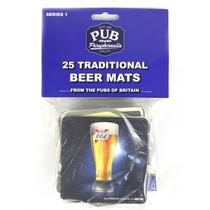 Novo Pacote 25 Bolachas Porta Copos Cerveja Pubs Serie 1