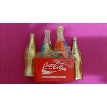 Mini Engradado Coca Cola Com Mais 5 Mini Garrafas Atenas2004