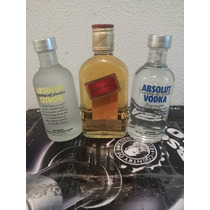 Kit 3 Miniaturas 200ml Absolut Citron + Red Label + Absolut