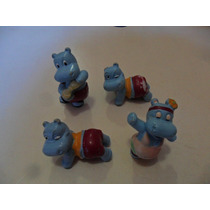 Lote 4 Hipopotamos Coleção Kinder Ovo Ferrero 1990 Raros