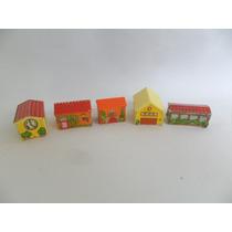 Brinquedo Miniatura Lote Com 05 Casinhas