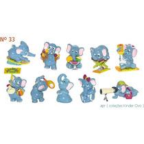 Kinder Ovo - Coleção Completa - Elefantes Praia