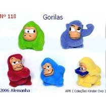 Kinder Ovo - Coleção Completa - Gorillas