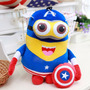 Boneco Pelúcia Musical Dave Minions 3 - Capitão America