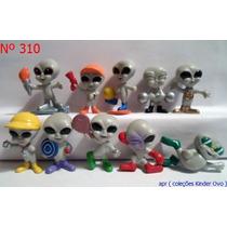 Kinder Ovo - Coleção Completa - Aliens Olimpiade Cinza