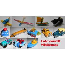 Lote Kinder Ovo Antigo (carros, Barcos, Trens E Aviões)