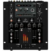 Nox202 Mixer Profissional Para Dj Behringer 2 Canais Nox 202