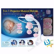 Mobile Projetor De Berço 3 Em 1 Musical/luz/bebê Importado