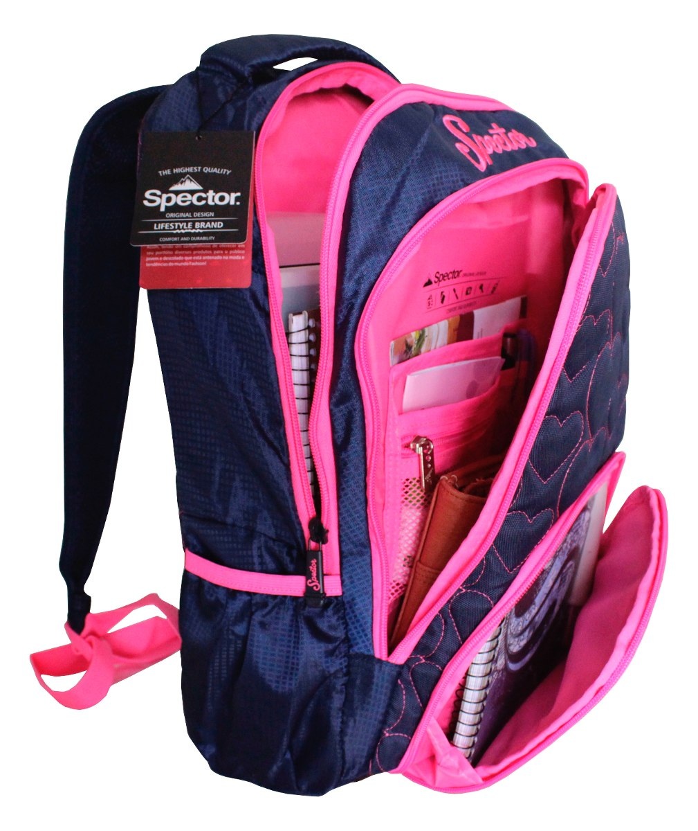 Bolsa Escolar Feminina Rock : Mochila escolar rosa feminina sport bolsa