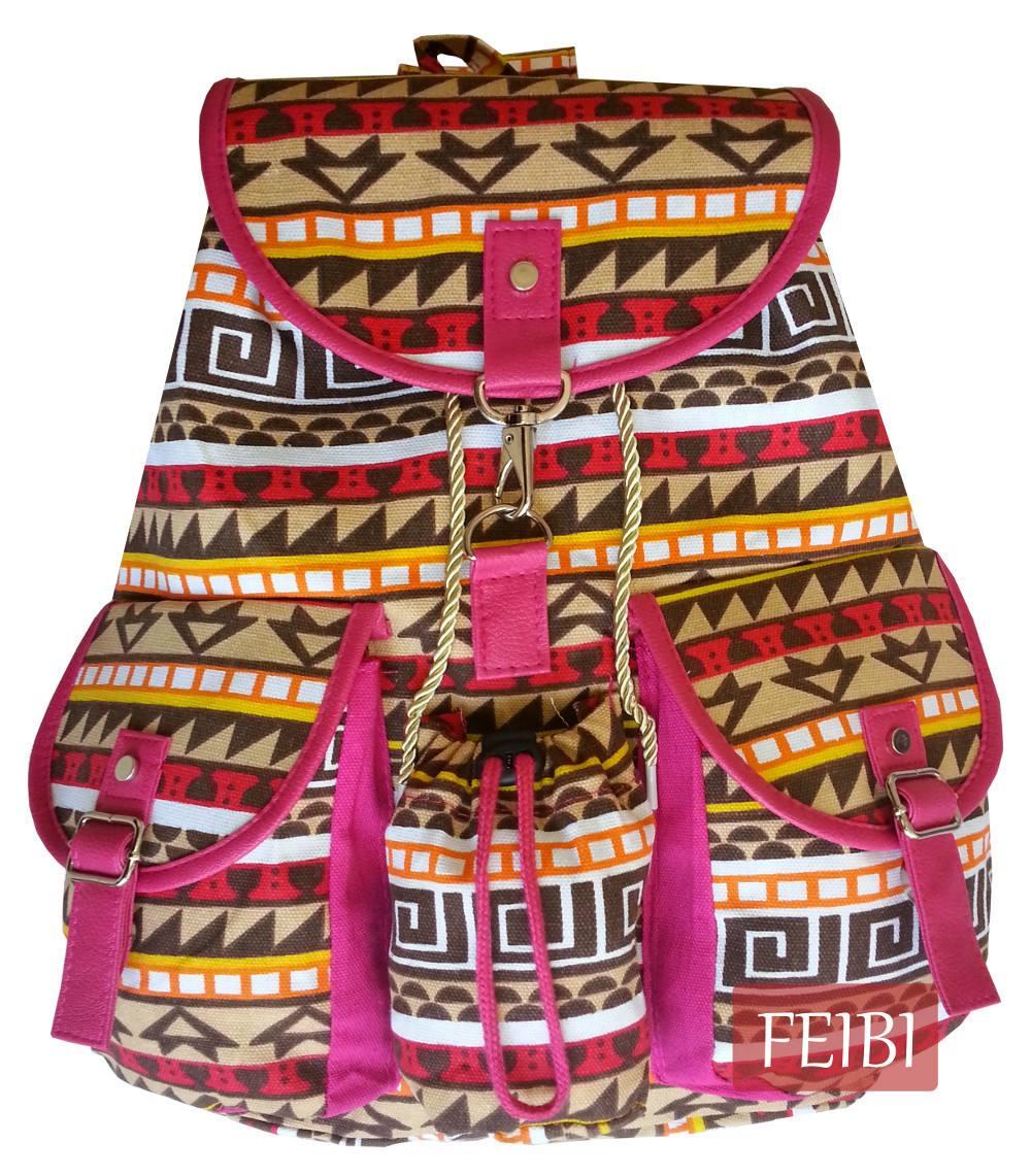 Bolsa Mochila Feminina Juvenil Lona Escolar Universitária : Mochila escolar lona azul bolsa pano feminina infantil r