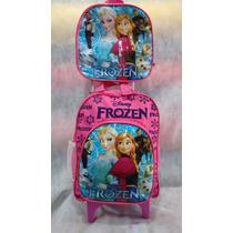 Kit Mochila De Carrinho Pequena + Lancheira Frozen