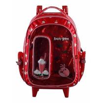 Mochila Rodinhas Angry Birds G Vermelha - Feminina Meninas