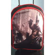 Mochila Escolar Batman + Lancheira Mochilete De Rodinhas