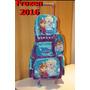 Kit Mochila Media Com Rodinhas E Lancheira Frozen 2016