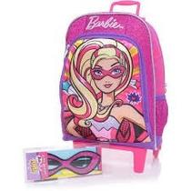 Mochila Escolar Barbie Super Princesa Rodinhas Rosa Sestini