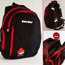 Mochila Angry Birds Escolar Notebook Adolescente Juvenil