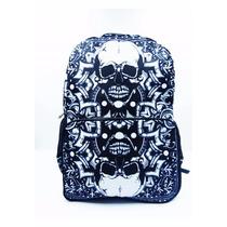 Mochila P/ Notebook Caveira Tribal - Rock Punk