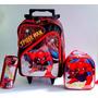 Mochila Escolar Rodinhas G Homem Aranha - Spider Man