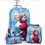 Mochila 3d Frozen Elza- Kit 3 Peças Importado Pronta Entrega