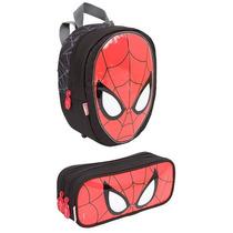 Lancheira Escolar Homem Aranha Spiderman + Estojo 16z