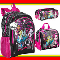 Kit Mochilete G Lancheira Estojo Monster High Sestini