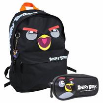 Kit Angry Birds Mochila Juvenil De Costas + Estojo Ref 12001