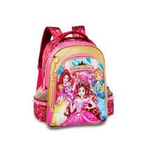 Mochila Escolar Feminina Infantil Princesas Magicas Costas