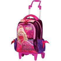 Mochila Rodinhas Infantil Barbie Princesa Pop Star G Sestini