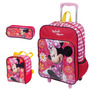 Kit Mochila Minnie Grande C/ Roda + Lancheira + Estojo- Plus
