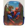 Mochila Infantil Costas 3d Alto Relevo Homem Aranha Heróis