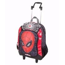 Mochila Carrinho G Spider-man Homem Aranha Bracelete-sestini