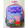 Promoção Mochila Escolar De Rodinhas Peppa Pig