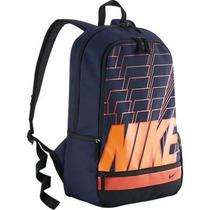 Mochila Nike Classic North Original - Azul/laranja