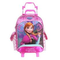 Mochila Carrinho Escolar Disney Frozen Anna G 2016 Dermiwil