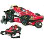 Mochila Infantil C/ Rodinhas 3d + Lancheira Fórmula 1 Maxtoy