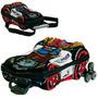 Mochila Infantil C/ Rodinhas 3d + Lancheira Turbo Max Police