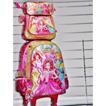 Kit Mochila Escolar Infantil Feminina Princesas Mágicas