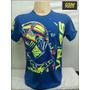Camiseta The Doctor Valentino Rossi Vr 46 Azul P Ref.028
