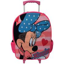 Mochila Promoção Infantil Com Rodinhas Minnie Mouse