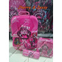 Kit Mochila Monster High 3d Lancheira, Estojo Pronta Entra