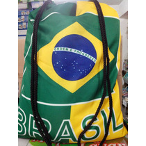 Mochila Saco Patriota Bandeira Brasil