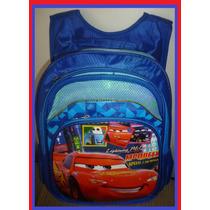 Mochila Infantil Escolar Carros Mcqueen S Rodinha 46x31x22cm